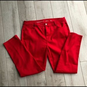Bright Red Avenue Jeans